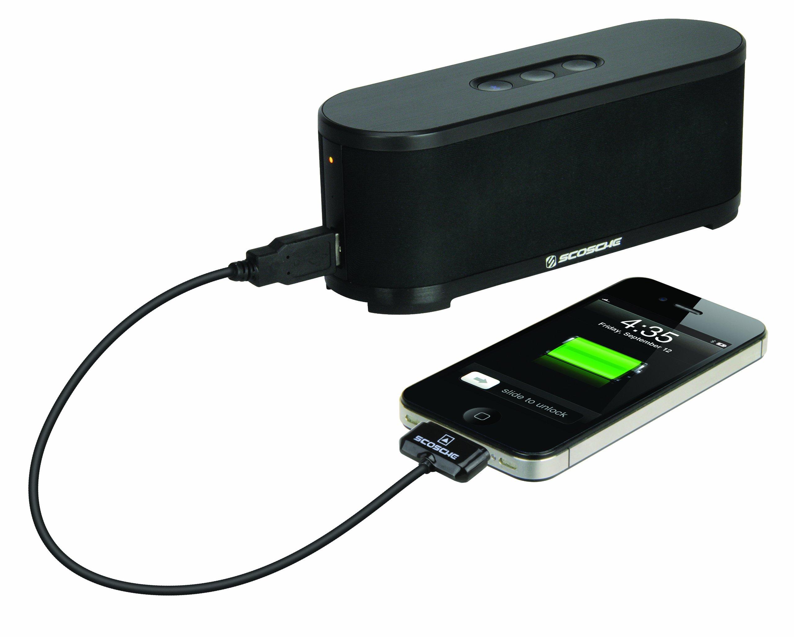 Scosche btspk2 boomSTREAM Bluetooth Media Speaker - Bluetooth Car Kit - Retail Packaging - Black