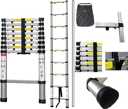 EN 131-6 Extra gap Anzahl der Stufen: 13-3,8 Meter Teleskopleiter Todeco Klappleiter Maximale Belastbarkeit: 150 kg GRATIS Tragetasche