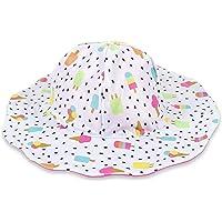 Gerber Girls' Reversible Sun Swim Beach Hat UPF 50+ Quick Dry