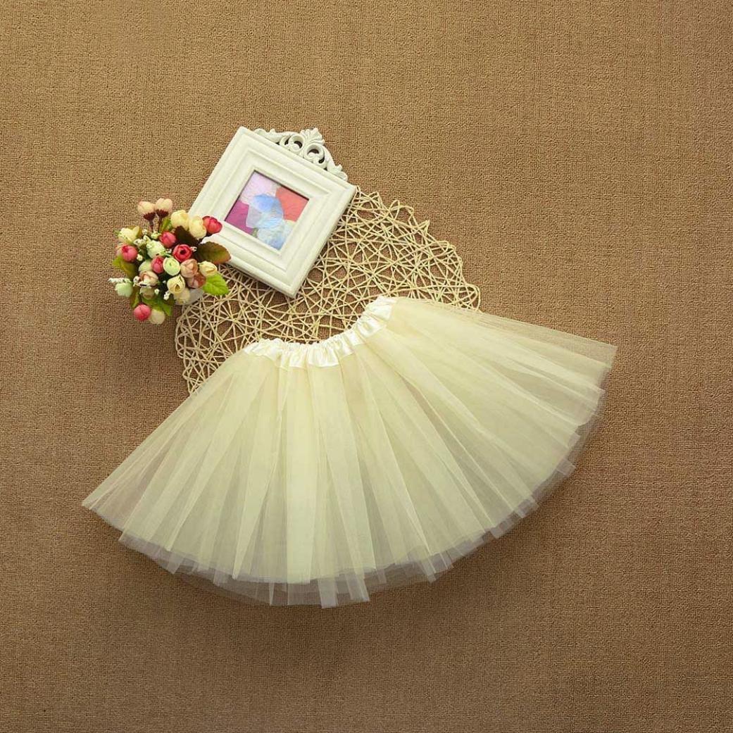b4aa9c739a67 Kolylong Cute Baby Girls Kids Solid Tutu Ballet Skirts Fancy Party ...