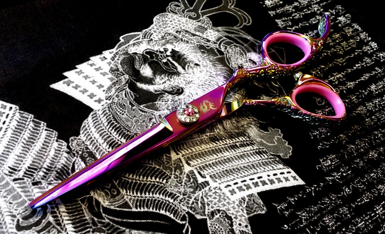 Kamisori Jewel 5.5'' Hair Cutting Shear / Scissor (HE-3) - Authorized Distributor by Kamisori (Image #3)