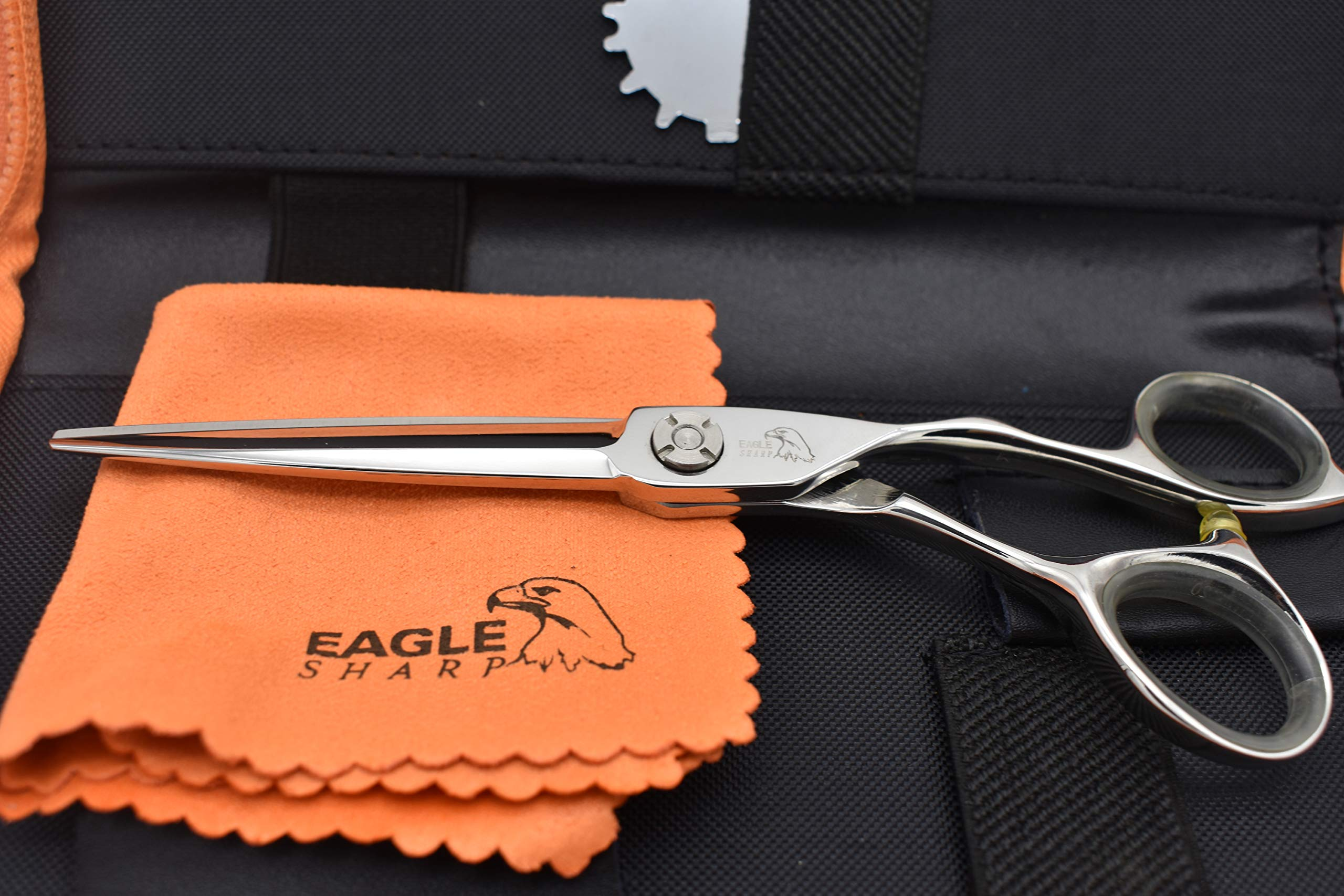 Professional Hair Scissors/Shears 6.5 inch For Barber/Hairdresser Cutting/Hairdressing Hair Convex Edge Blade Japanese Steel Shears 440c Forged (6.5'' Cutting) by EAGLE SHARP (Image #4)