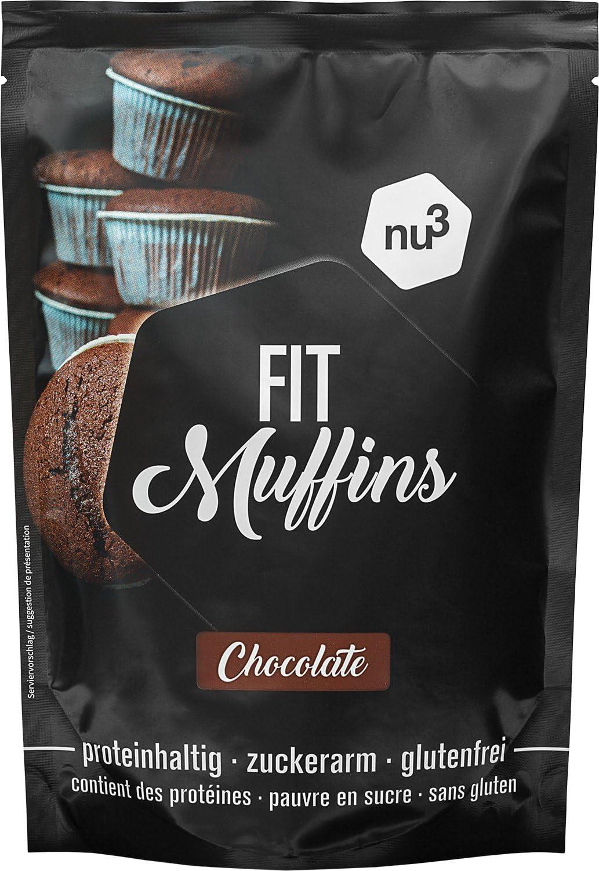 Preparado para muffins de chocolate sin gluten baja en calorías NU3 (240 gr)