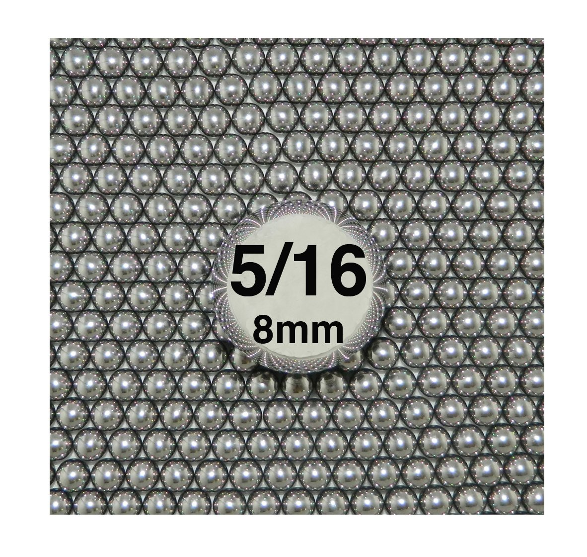 5/16' Steel Ball Sling Shot Ammo 20 lbs by Ball Baron