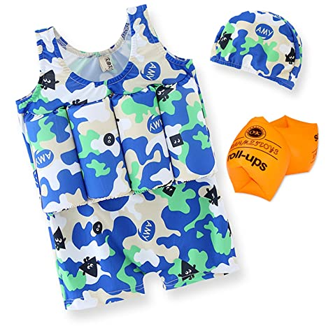 Garlagy 4 PCS Child Life Jacket for Swimming Training Aid Floatation Life  Vest for Kids with 081cc5e63218