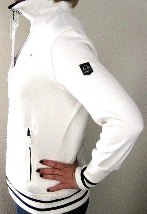 Skag Viola Maritime Jacke Damen Sweatjacke WhiteNavy M 38