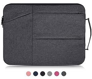 "14-15 Inch Waterproof Laptop Sleeve Bag Compatible Acer Chromebook 14/Acer Aspire 14"",HP Stream 14/Pavlilion 14/ProBook 14,ASUS Zenbook,LG gram,Samsung Dell HP Chromebook 14 inch Laptop Case,Dark Gray"