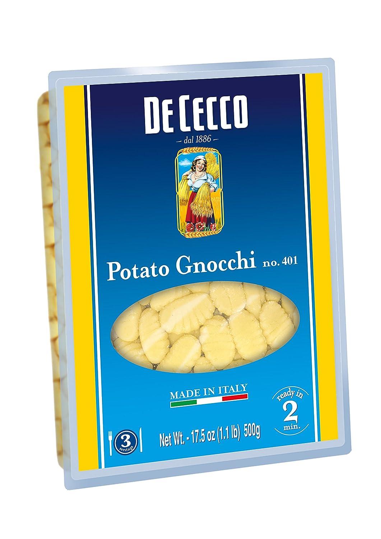 De Cecco Pasta, Potato Gnocchi No 401, 17 5 Ounce (Pack of 4)