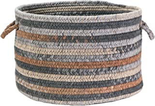 """product image for Colonial Mills Oak Harbour - Graphite 18"""""""" x18 x 12 Utility Basket, NEW"""
