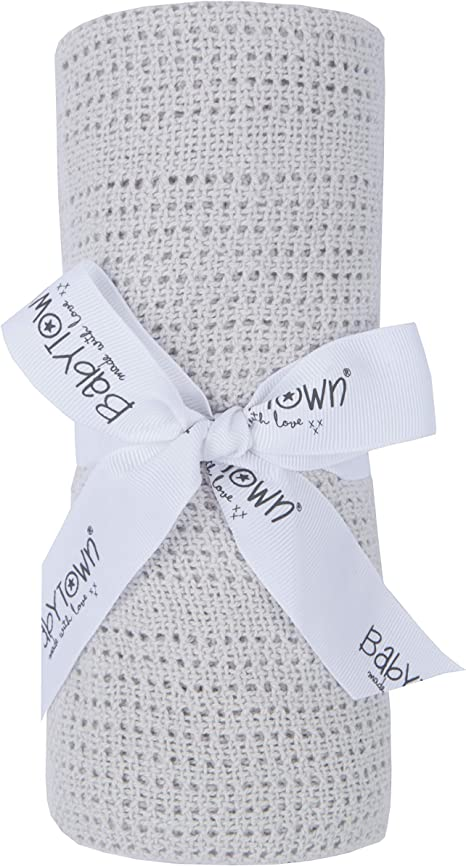 Manta para bebé (90 x 70 cm, 100% algodón) gris Talla:talla única ...
