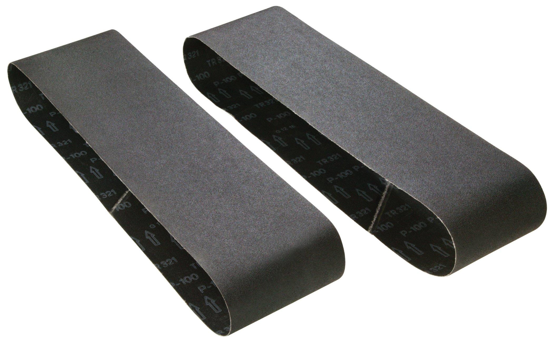 Woodstock D1262 6-Inch by 48-Inch 220 Grit Aluminum Oxide Sanding Belt, 2-Pack