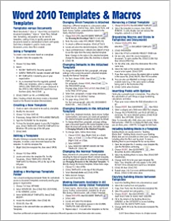 Microsoft Word 2010 Advanced Quick Reference Guide (Cheat Sheet of ...
