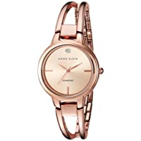 Anne Klein Rose Goldtone Open Link Diamond Dial Bangle Watch
