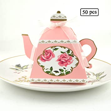 50pcs candy boxes tea party favors wedding gifts for bridal shower birthday party candy box favors