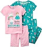 Carter's Baby Girls' 4-Piece Snug Fit Cotton