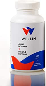 Wellin Immunity Boost & Joint Health Supplement with Microlactin-Patented HyperImmune Milk Protein Concentrate - IgG IGA Lactoferrins & Amino Acids 150 Capsules 2-Month Supply