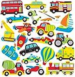 Baker Ross- Pegatinas de espuma de medios de transporte (Pack de 120) - Pegatinas de espuma con temática de medios de…