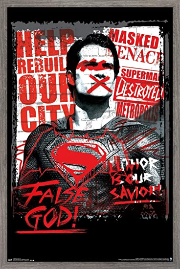 Trends International DC Comics Movie - Batman v Superman - False God Wall Poster, 14.725