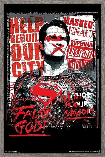 Trends International DC Comics Movie - Batman v Superman - False God Wall Poster, 14.725