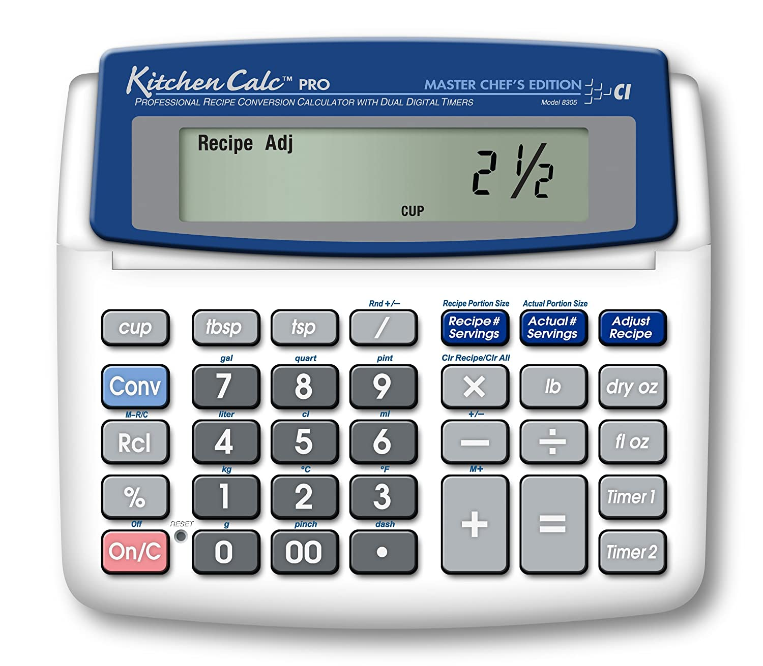 calculated industries kitchencalc 8305 pro master chef