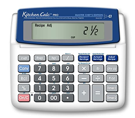 calculated industries kitchencalc 8305 pro master chef edition