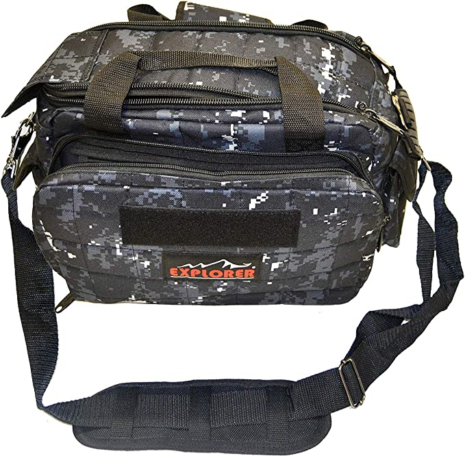 best range bags: Explorer Tactical 12 Pistol Padded Gun and Gear Bag