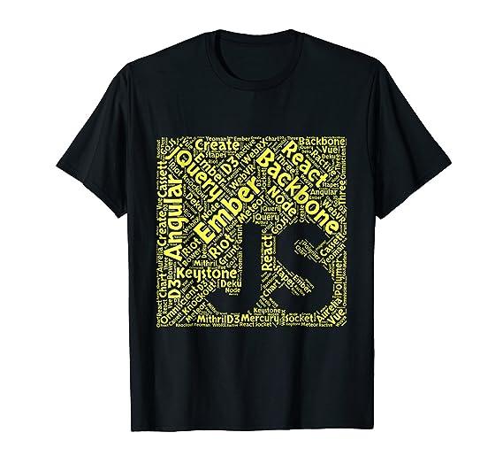 Amazon com: JavaScript Shirt | Original JS Framework Cloud Yellow