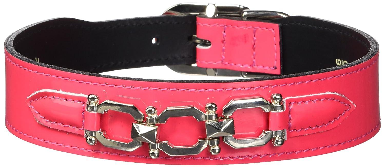 Hartman & pink 3399 Georgia Dog Collar, 16 to 18-Inch, Hot Pink Patent