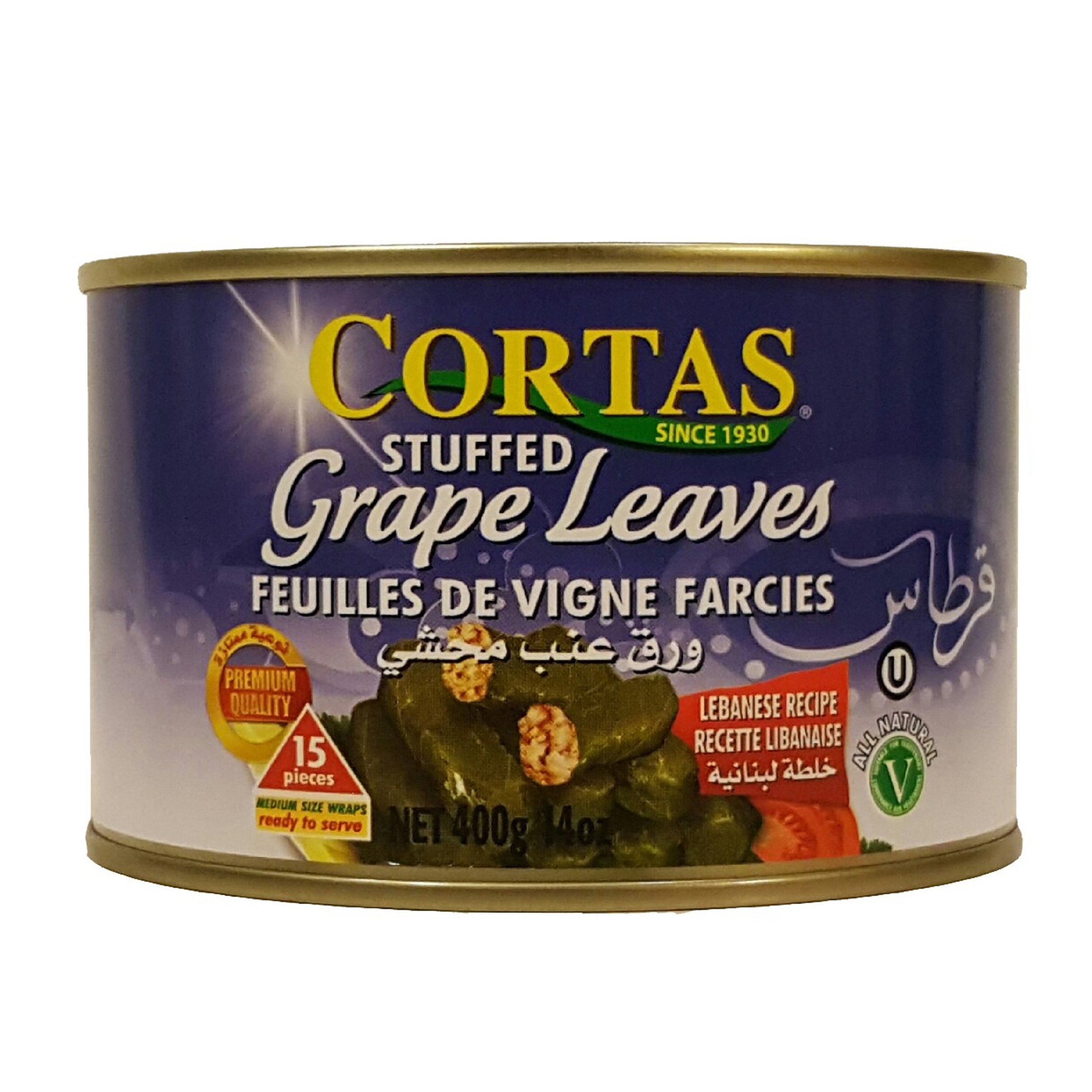 Cortas Stuffed Grape Leaves 14oz (pack of 3)