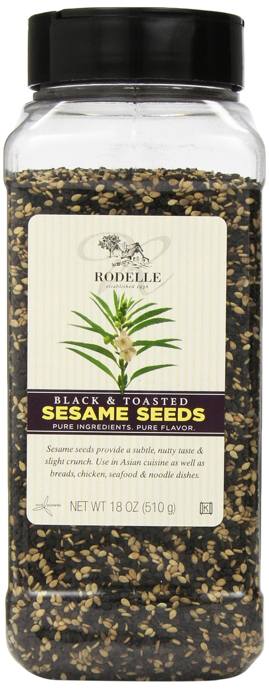 Rodelle Black and Toasted Sesame Seeds, 18 Ounce