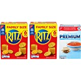 RITZ Crackers & Premium Saltine Crackers Variety Pack, Family Size, 3 Boxes