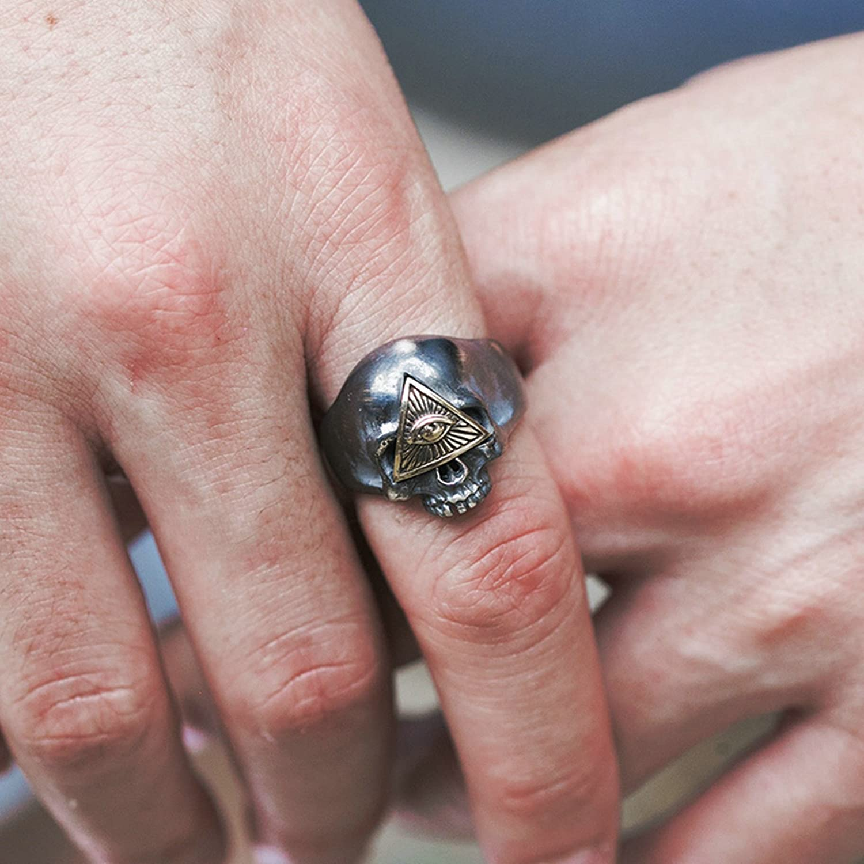 Amazon.com: AMDXD Jewelry 925 Sterling Vintage Rings for Men Skull ...