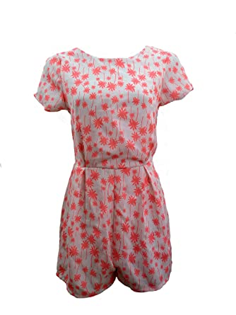 7afbd4ae81e New Womens Plain Ali Baba Harem Suit Cami Strappy All in One Jumpsuit  Playsuit Neon Pink Palm Print 8 10 12 14 16 UK  Amazon.co.uk  Clothing
