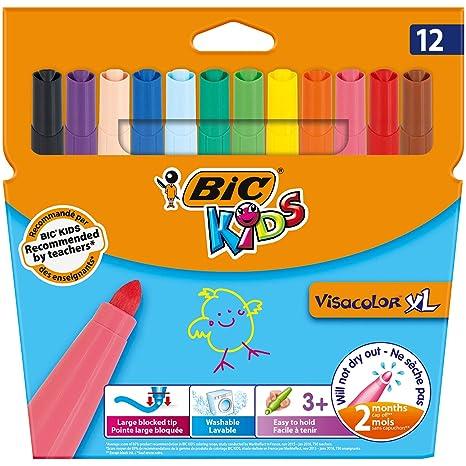 Feutre A Coloriage En Anglais.Bic Kids Visacolor Xl Feutre De Coloriage Couleurs Assorties