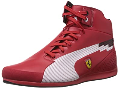 reputable site 2662f dfd56 Puma Evospeed Mid SF Ferrari Mens Leather Trainers   Shoes - Red, Red, 10
