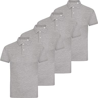 89b189721ba6 New Pack of 4 Mens Polo Shirt Short Sleeve Plain Pique Top Designer Tshirt  Tee: Amazon.co.uk: Clothing