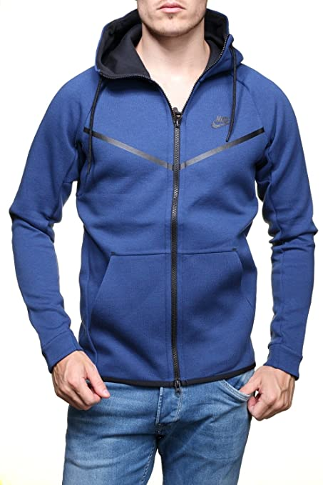 Nike Men\u0027s Men\u0027s Sportswear Tech Fleece Windrunner Blue Hoodie 805144 423  (s)