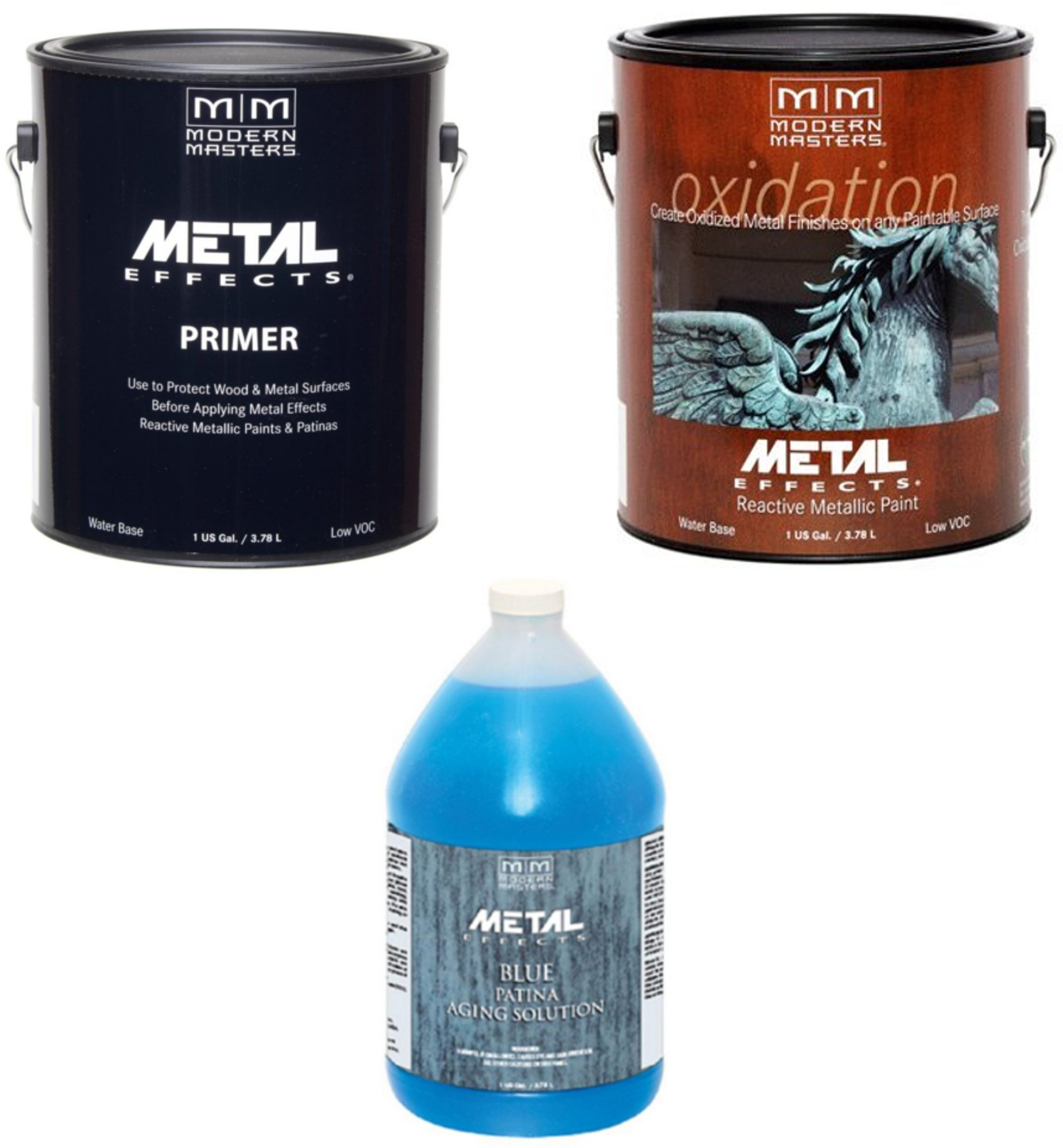 Modern Masters Metal Effects Bronze Paint and Blue Patina Kit (Gallon) by Modern Masters