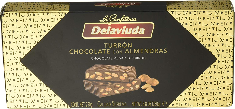Delaviuda - Turrón Chocolate Almendras, 250 g - [Pack de 5 ...