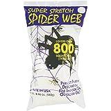 Fun World Super Stretch Spider Web for Halloween Indoor/Outdoor Decoration 8.4 oz 800sqft