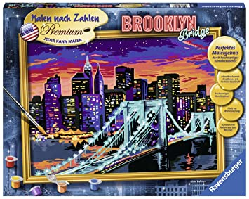 Ravensburger 28897 Brooklyn Bridge Malen Nach Zahlen Trend 40 X 30 Cm