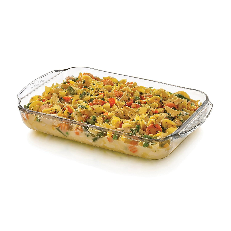 Libbey Baker's Basics Glass Casserole Baking Dish, 9-inch by 13-inch