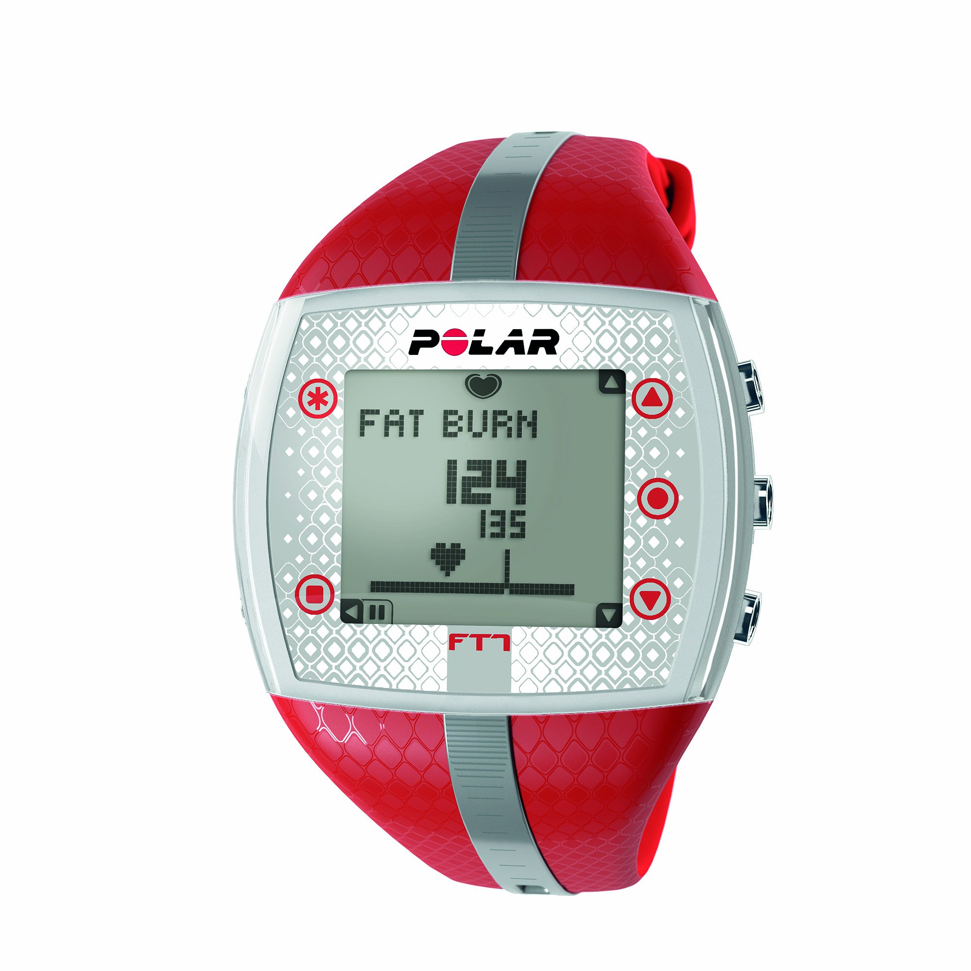 Polar FT7 Heart Rate Monitor Watch (Red/ Silver) by Polar