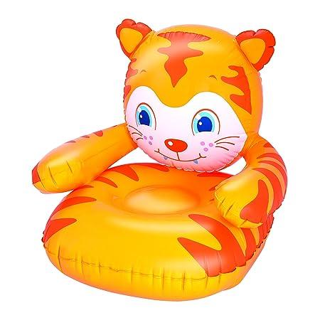 Bestway - Silla Hinchable de Tigre Kid s, Naranja: Amazon ...
