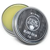 BEST DEAL Beard Balm with Argan Oil & Mango Butter - Styles, Strengthens & Softens Beards & Mustaches - Leave in Conditioner Wax for Men by Viking Revolution