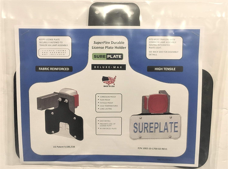 Deluxe-Max SurePlate TM Trailer//Truck DM16001 Rubber License Plate Holder Bracket