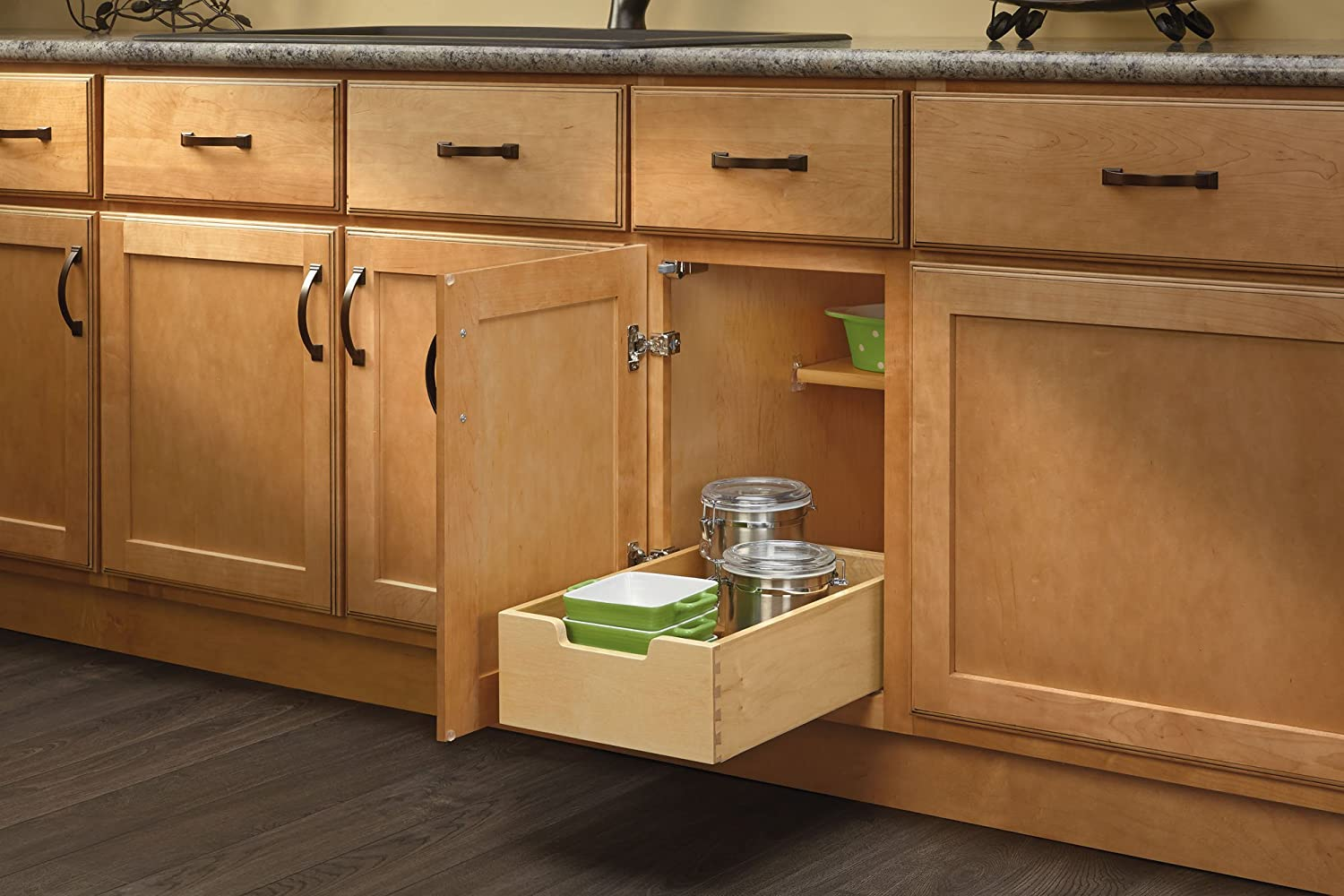Small Wood Base Cabinet Pull-Out