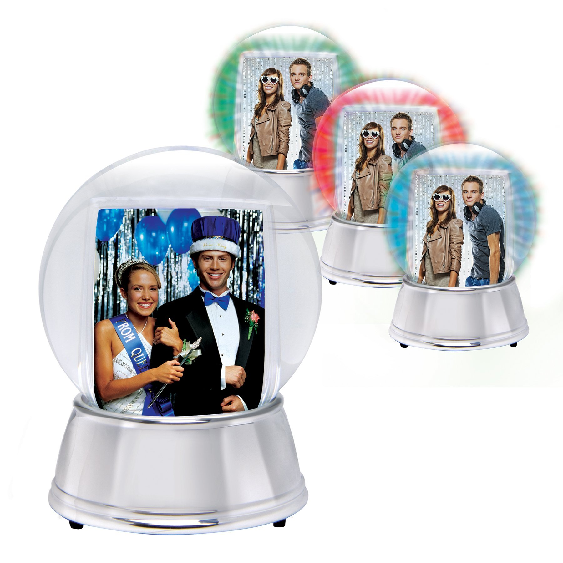 LIGHT UP Photo Snow Globe with Silver Base - Case of 12 by Neil Enterprises