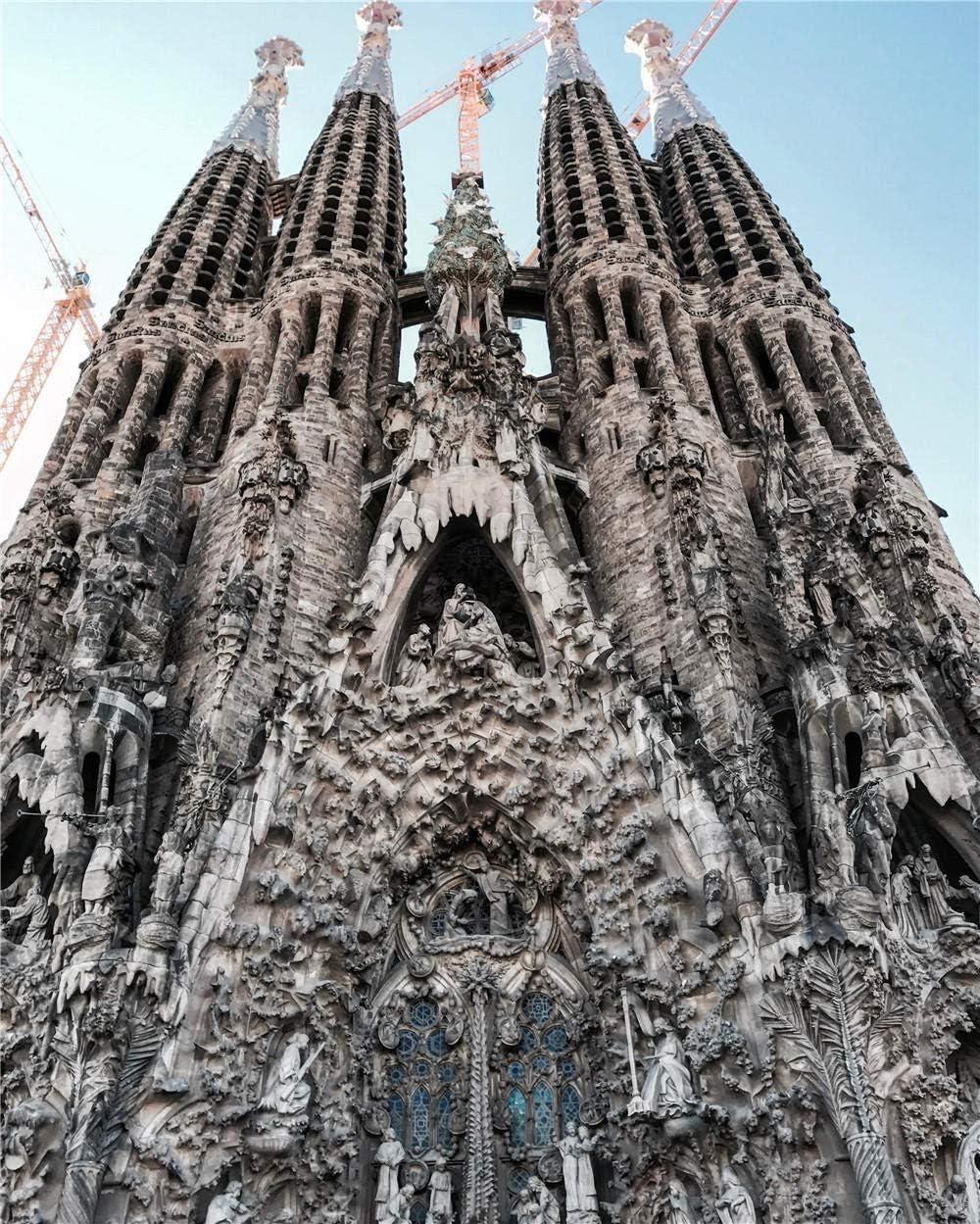 ELLCDRJ Juego de Rompecabezas de 1000 Piezas Juego de Juguetes educativos Sagrada Familia Madrid España Rompecabezas de Juguete para niños Adultos Navidad Cumpleaños Regalos de año Nuevo: Amazon.es: Hogar