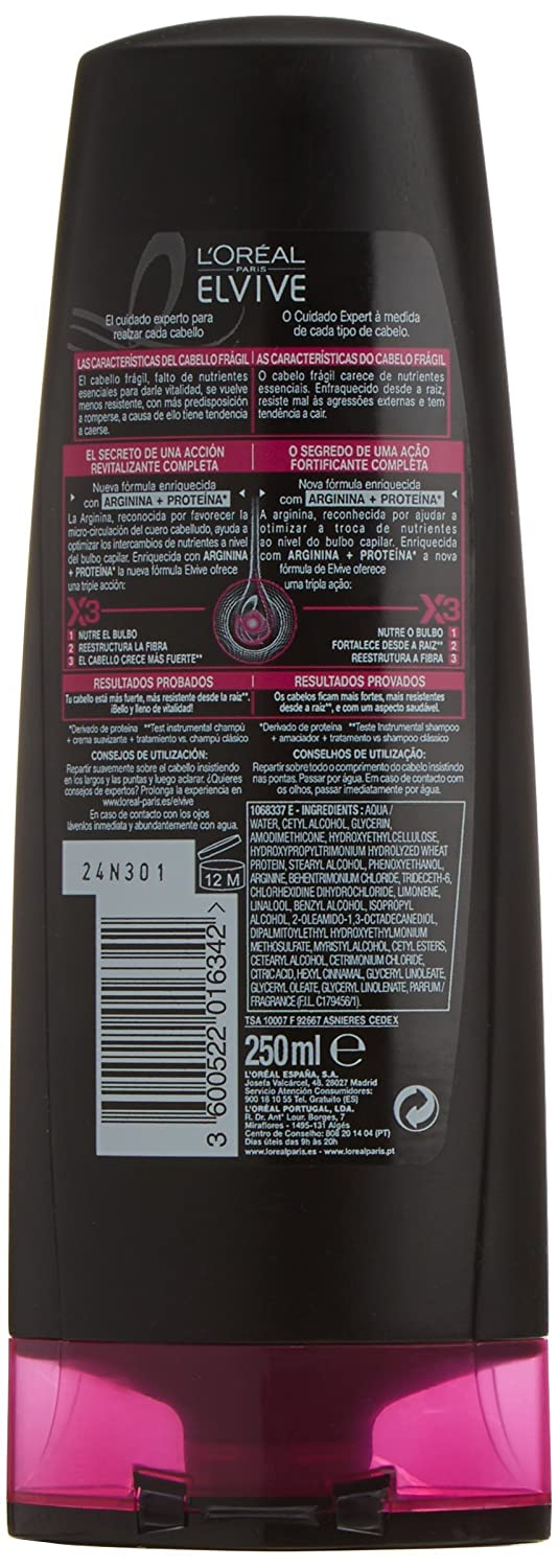 LOréal Paris Elvive Arginina Resist Acondicionador - 25 cl: Amazon.es: Amazon Pantry